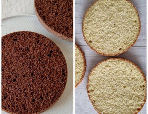 IMPASTO PAN DI SPAGNA SEMPLICE O AL CACAO ricette basi per torte