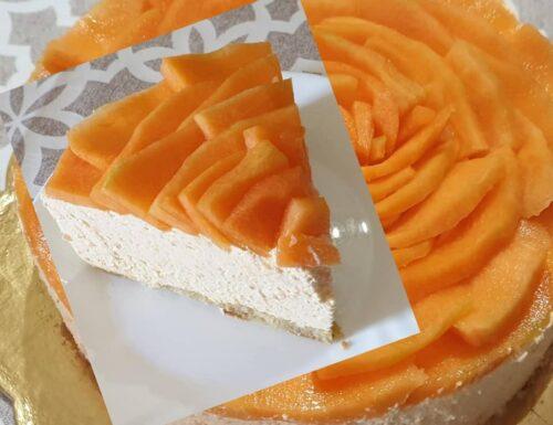 TORTA CHEESECAKE AL MELONE dolce fresco e goloso