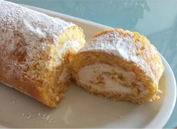 torta rotolo paradiso al limone dolce ricetta facile