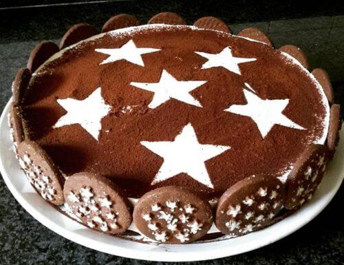 TORTA FREDDA TIPO CHEESECAKE PAN DI STELLE dolce cremoso