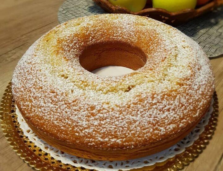 torta ciambella nuvolissima all'arancia dolce senza burro