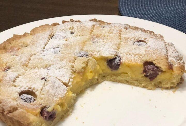 torta crostata amalfitana dolce ripieno crema e amarene