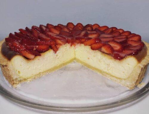 CROSTATA FAVOLA TEDESCA KASEKUCHEN dolce ripieno cremoso