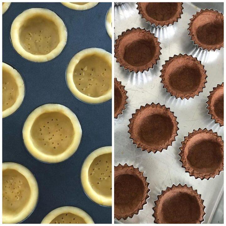impasto per cestini o tartellette semplici o al cacao dolce frolla perfetta