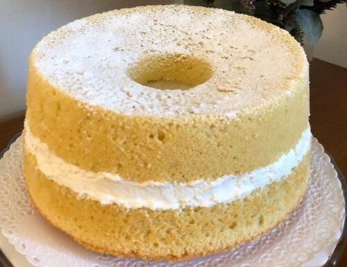 TORTA CIAMBELLA CHIFFON CAKE PARADISO dolce ripieno goloso