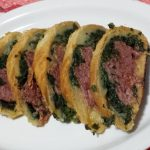 Cotechino in crosta con pure' e spinaci