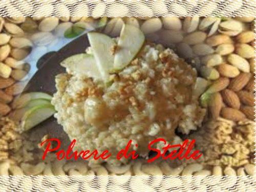 riso pere gorgonzola e polvere di noci