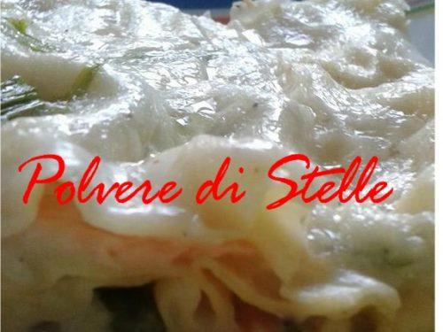 lasagne di pasta fresca con salmone e asparagi