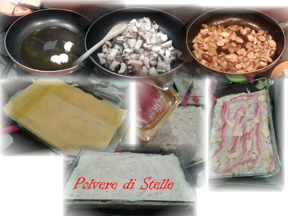 Lasagne cremose ai funghi porcini
