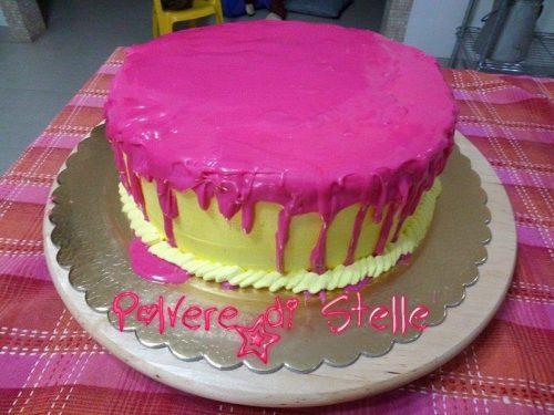 Ganasce al cioccolato colorata per copertura drip cake