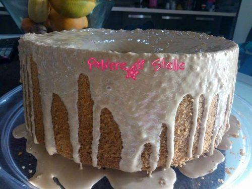 Chiffon cake al caffè con colata di ghiaccia
