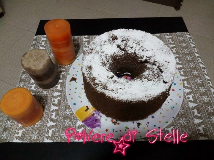 chiffon cake al cioccolato profumato al rum