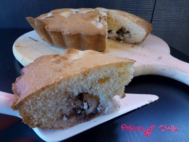 torta nua con ripieno di ricotta e cioccolato Bimby
