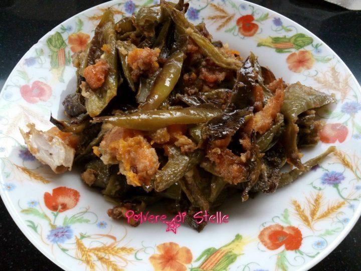 Peperoni e zucca gialla gratinati al forno