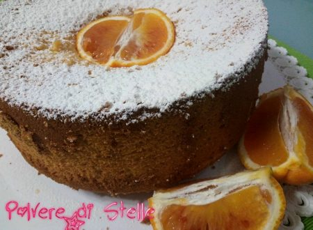 Chiffon cake  all'arancia light senza glutine
