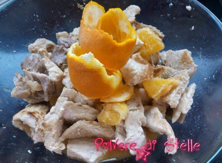straccetti di pollo profumati all'arancia
