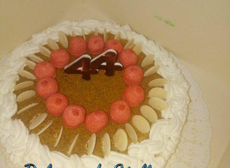 Torta con crema e panna  Auguri Papa' Ciccio
