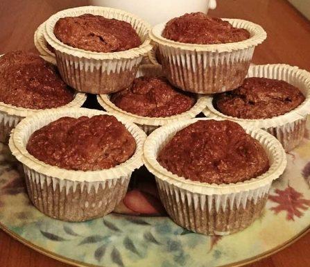 Muffin crusca, cacao e vaniglia light