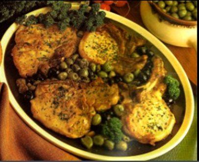 Costolette di maiale con olive