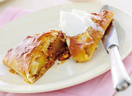 Ananas nel cartoccio di pasta fillo