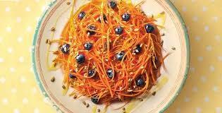 Insalata di carote e mirtilli