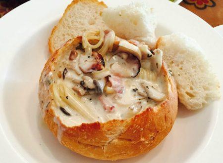 Nido di pane ai funghi