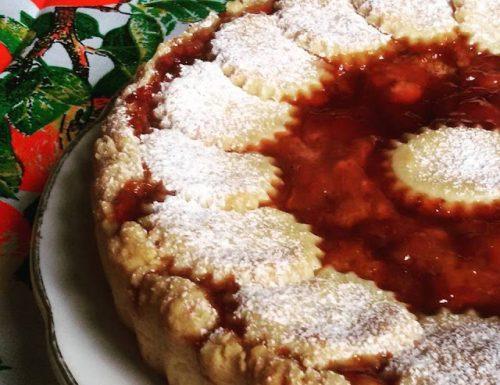 Crostata Cheesecake alle Fragoline di Bosco (Base di Frolla senza uova veloce e facile)