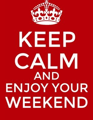 Auguro un felice Weekend a Tutti!..