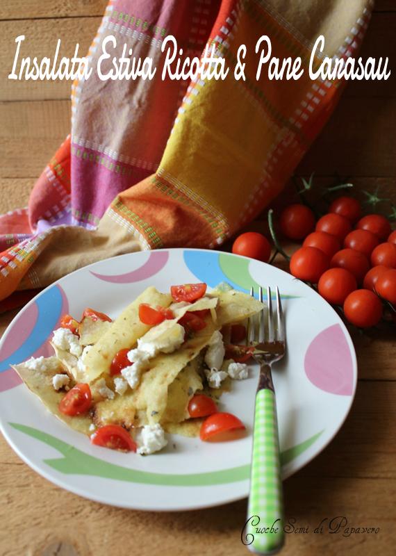 insalata estiva con ricotta e pane carasau