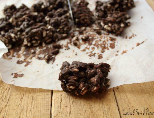 Dolcetti  al cioccolato e riso soffiato