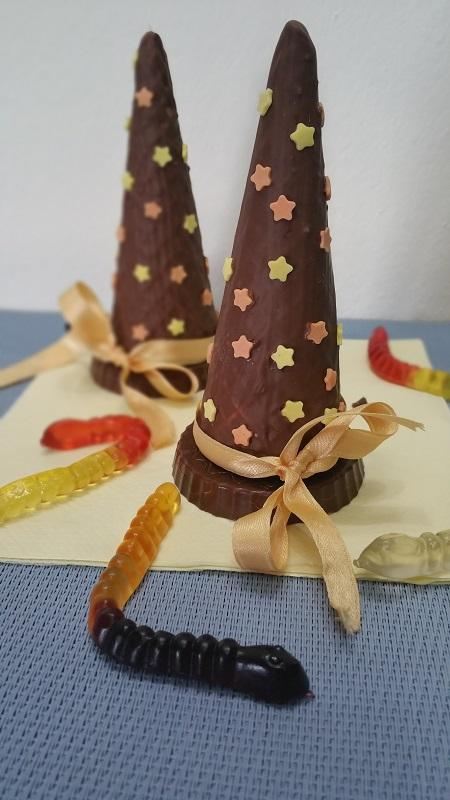 Cappelli di strega al cioccolato