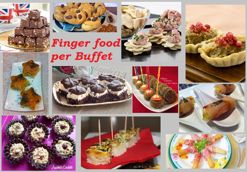 Finger food salati e dolci