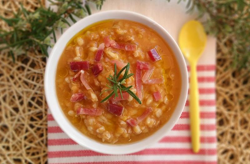 Zuppa di lenticchie e speck