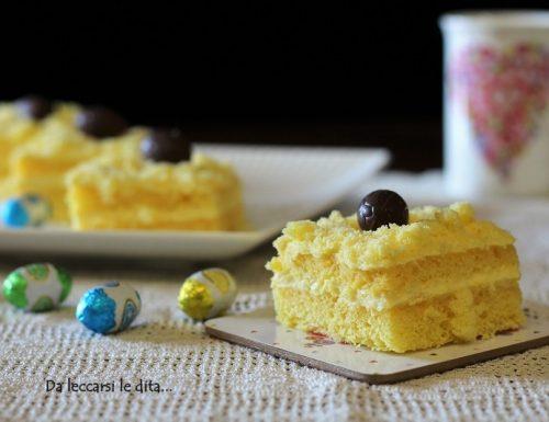 Tortine mimosa con crema all'ananas senza uova facili facili
