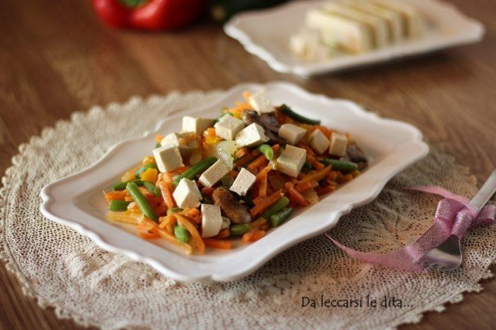 tofu con verdure
