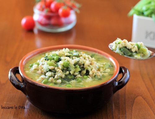 Zuppa di verdure miste e orzo, light e saporita