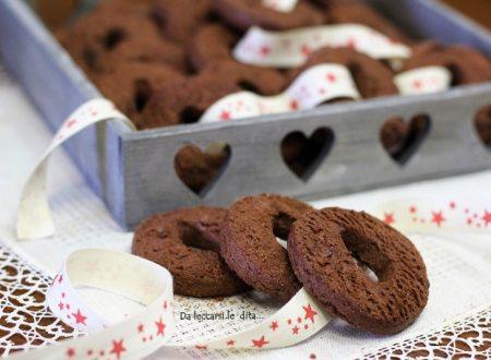 Biscotti sablé al cioccolato deliziosa pastafrolla