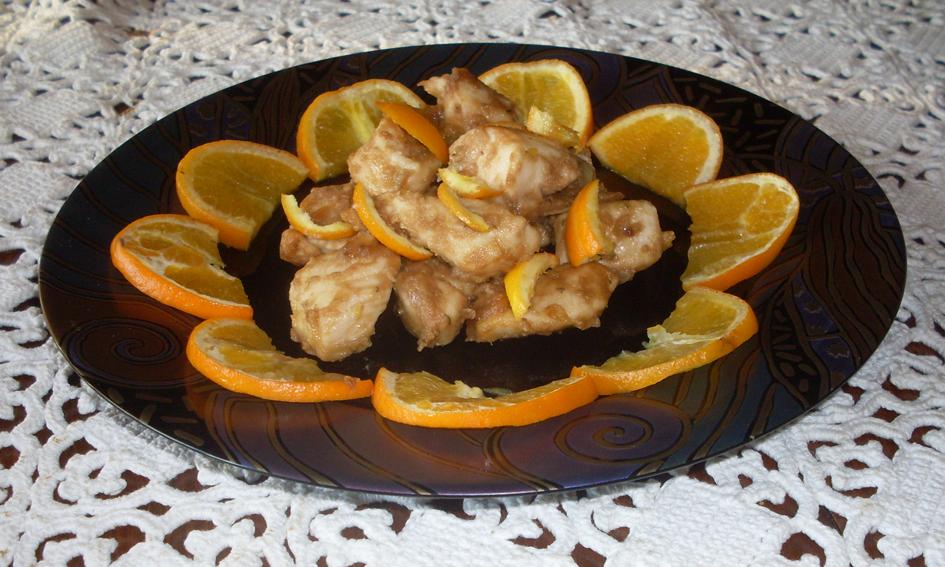 Bocconcini di pollo in salsa di arancia e balsamico