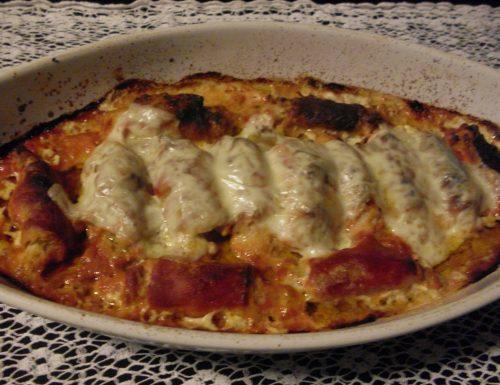 Cannelloni di arista al forno
