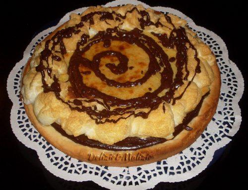 """Crostata """"meringata"""" con cioccolata e crema di arance"""