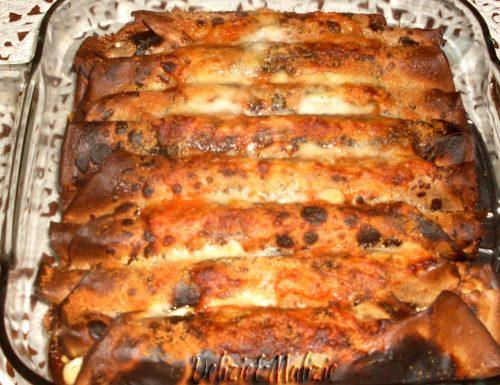 Crepes di castagne gratinate