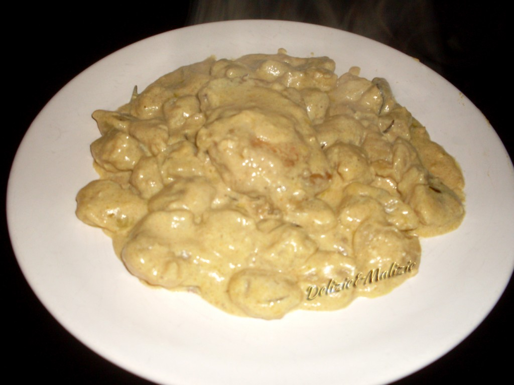 Gnocchi con pollo al curry