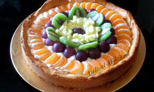 Crostata di chantilly e frutta fresca