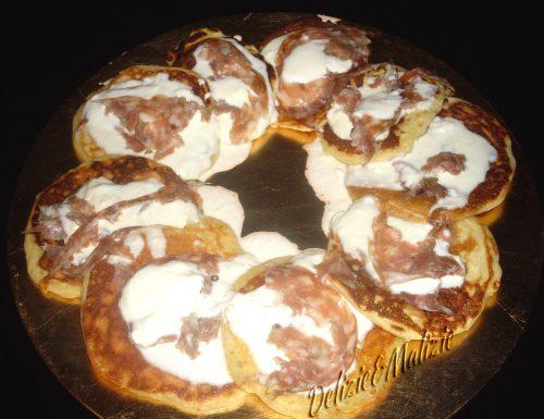 Pancakes allo stracchino e sbriciolona