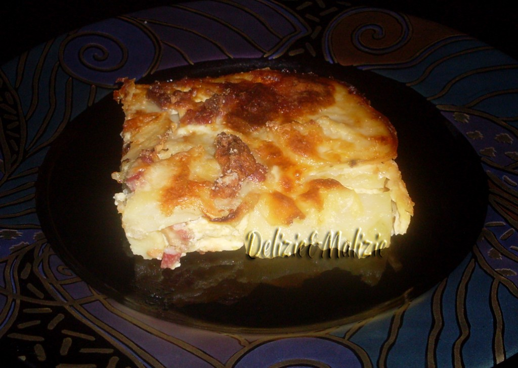 Parmigiana di patate alla carbonara