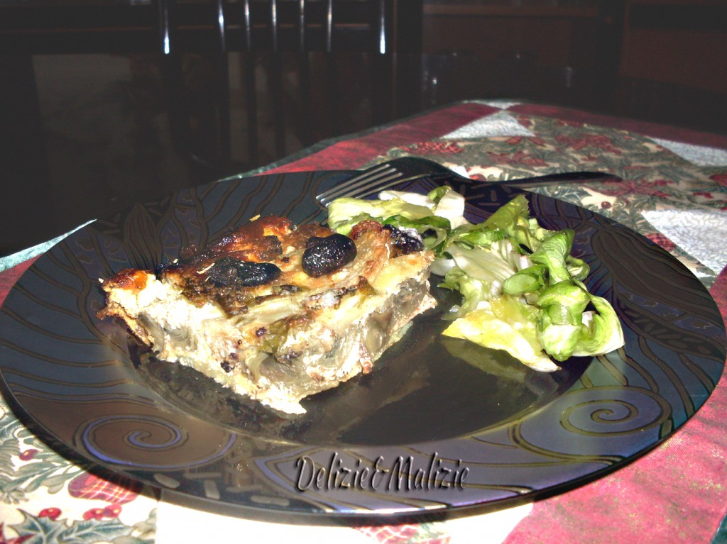 Parmigiana di patate e carciofi