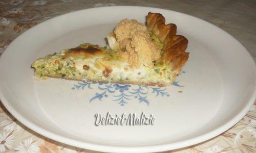 Sfoglia meringata di zucchini e stracchino