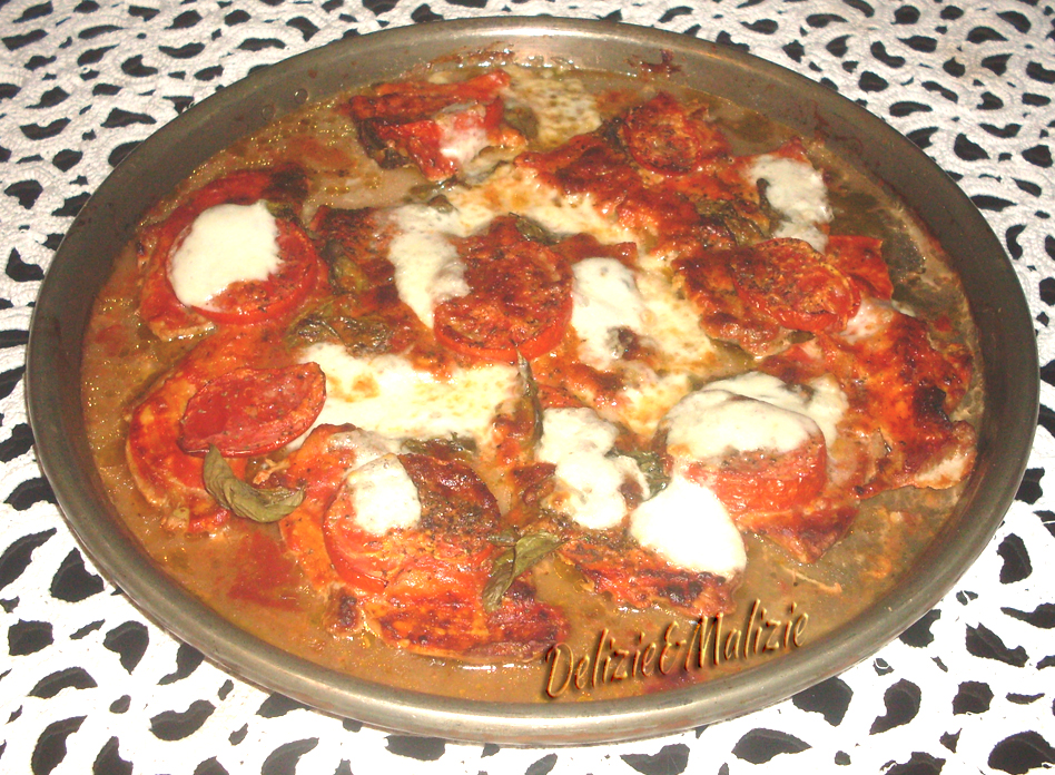 Pizza margherita di arista