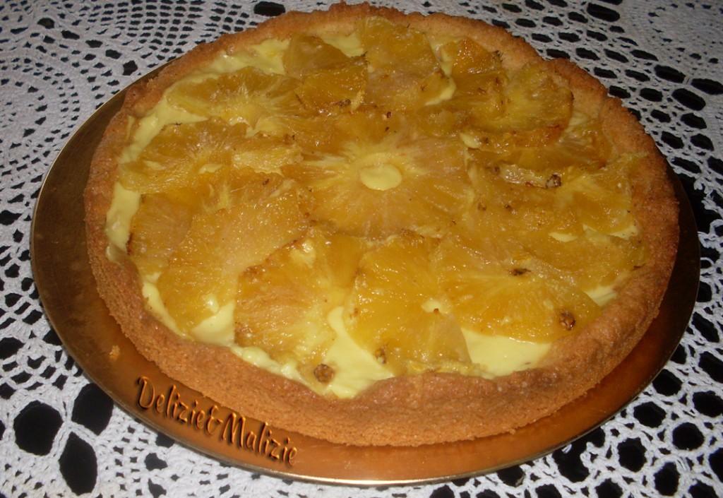 Crostata di cocco e ananas caramellato