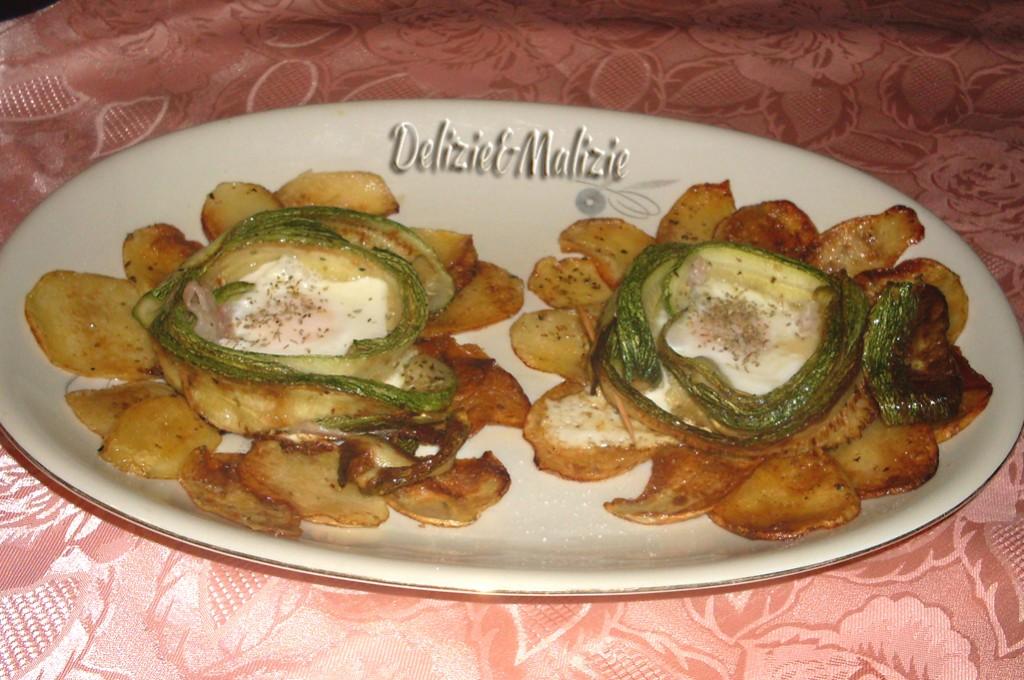 Rose di uova e zucchine